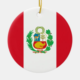 Bandera del Perú - Flag of Peru Ceramic Ornament
