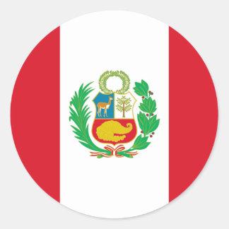 Bandera del Perú - Flag of Peru Classic Round Sticker
