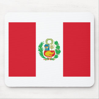 Bandera del Perú - Flag of Peru Mouse Pad