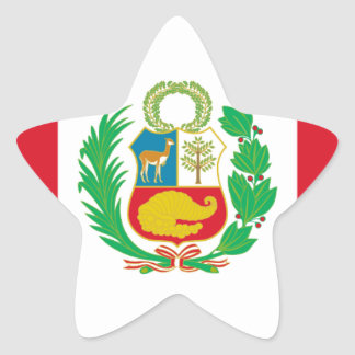 Bandera del Perú - Flag of Peru Star Sticker