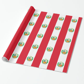 Bandera del Perú - Flag of Peru Wrapping Paper