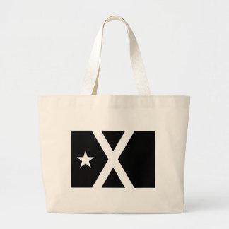 Bandera Negra - Estelada Catalunya Flag Large Tote Bag