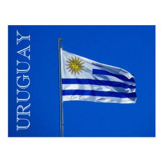 bandera uruguay postcard