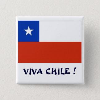 Bandera Viva Chile I 15 Cm Square Badge