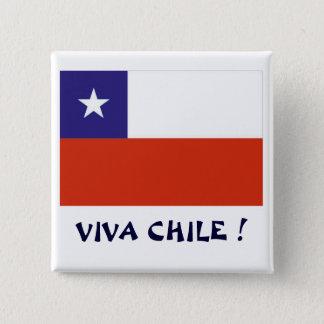 Bandera Viva Chile IV 15 Cm Square Badge