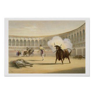 Banderillas de Fuego, 1865 (colour litho) Poster