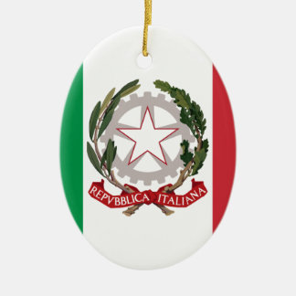 Bandiera Italiana - State Ensign of Italy Ceramic Ornament