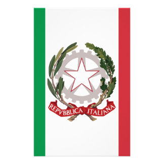 Bandiera Italiana - State Ensign of Italy Customized Stationery