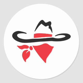 BANDIT OUTLAW CLASSIC ROUND STICKER