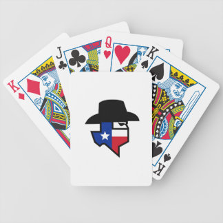 Bandit Texas Flag Icon Bicycle Playing Cards