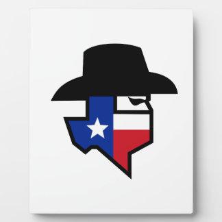 Bandit Texas Flag Icon Plaque