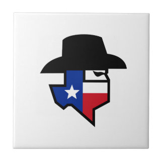 Bandit Texas Flag Icon Tile