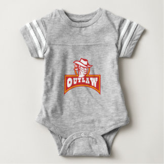 Bandit With Outlaw Text Retro Baby Bodysuit