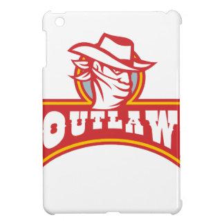 Bandit With Outlaw Text Retro iPad Mini Case