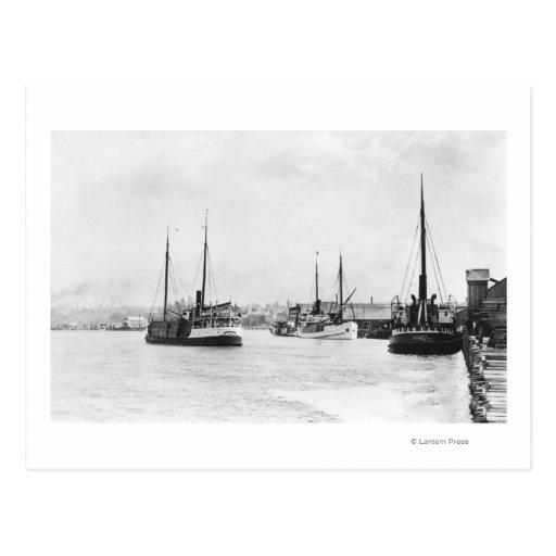 Bandon, Oregon View of Harbor Waterfront Postcards