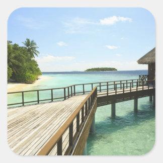Bandos Island Resort, North Male Atoll, The 2 Square Stickers