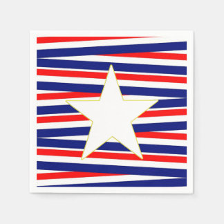 Bands Of Freedom Veterans Day Party Paper Napkins Disposable Napkin