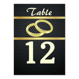 Bands of Gold Table Numbers 11 Cm X 16 Cm Invitation Card