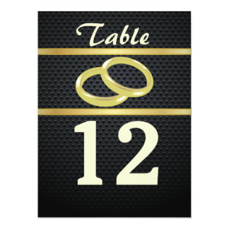 Bands of Gold Table Numbers 17 Cm X 22 Cm Invitation Card
