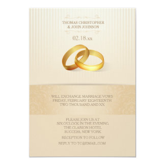 Bands Of Gold Wedding Invitation