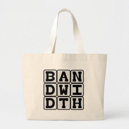 Bandwidth, Data Transfer Rate Tote Bag