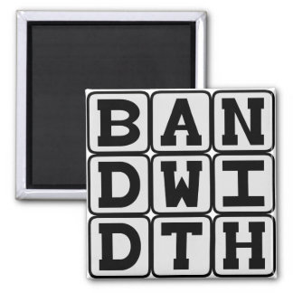 Bandwidth, Data Transfer Rate Fridge Magnets