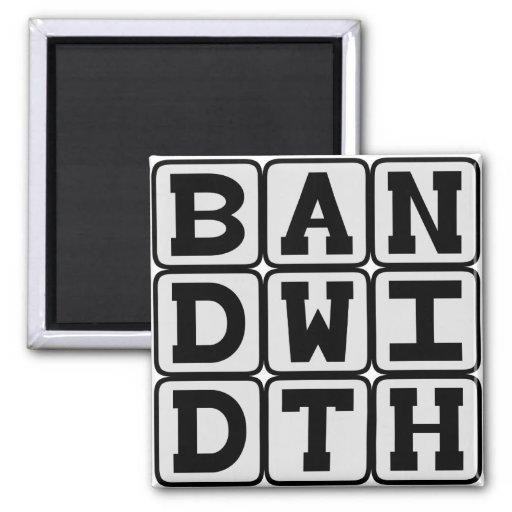 Bandwidth, Data Transfer Rate Fridge Magnets