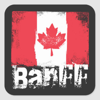 Banff Grunge Flag Square Sticker