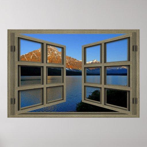 Banff National Park 6 Pane Open Window Poster