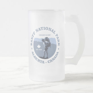 Banff National Park Frosted Glass Beer Mug