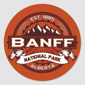 Banff Natl Park Crimson Classic Round Sticker