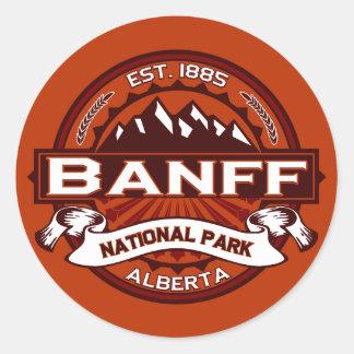 Banff Natl Park Crimson Round Sticker