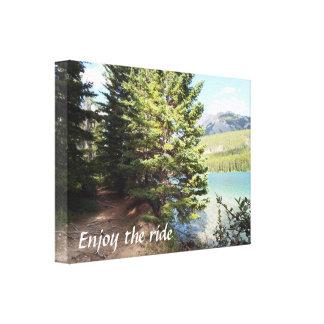Banff walking path canvas