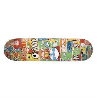 BANG! Colorful Comic Aleloop Skateboard. 20 Cm Skateboard Deck