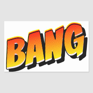 BANG Comic Book Sound Effect Rectangular Sticker
