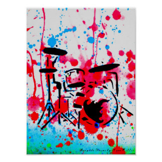 Bang the Drums by Kara Willis Poster
