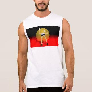 BANG YOUR HEAD drum cartoon character t-shirt