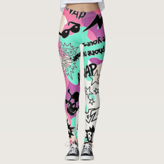 bang zap boom camo womens leggings