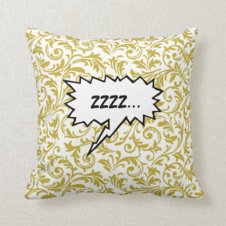 Bang ZZZZ Speech Bubbles Square Pillow