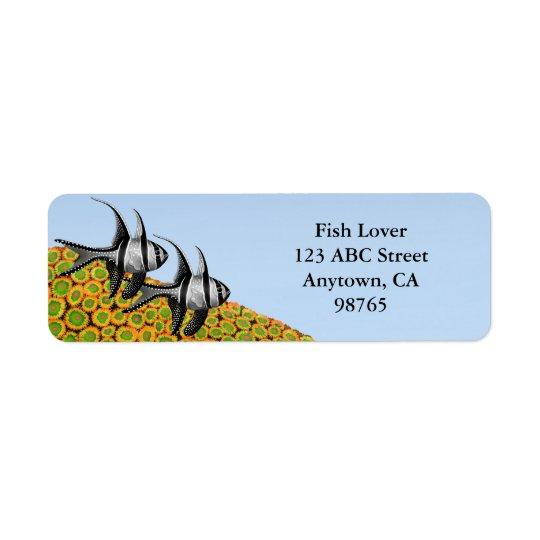 Banggai Cardinalfish & Zoanthid Corals Labels
