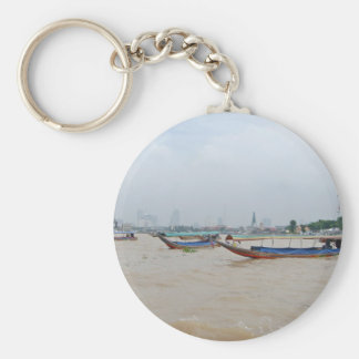 Bangkok Crossing Basic Round Button Key Ring