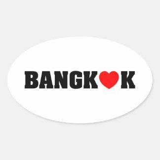 BANGKOK LOVE OVAL STICKER