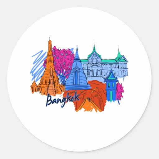 bangkok orange  travel city graphic.png stickers