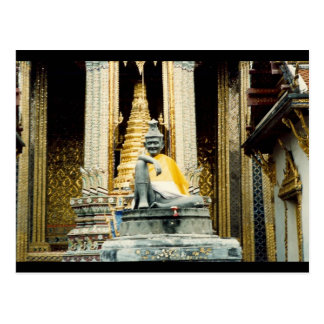 bangkok shrine statue postcard
