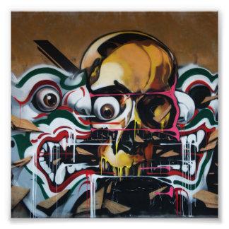 Bangkok Skull Graffiti Photograph