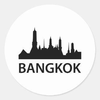 Bangkok Skyline Classic Round Sticker