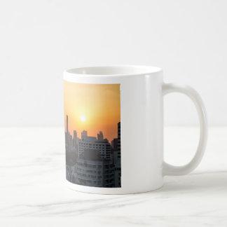 Bangkok skyline sunset panorama background coffee mug