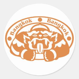 Bangkok Stamp Classic Round Sticker