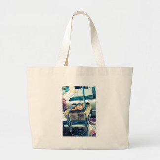 Bangkok street food barbeque with skewers jumbo tote bag