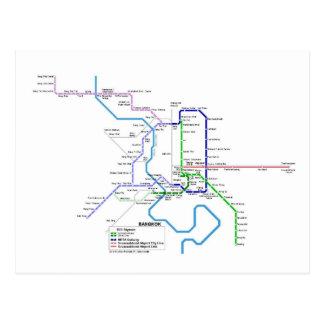 Bangkok subway postcard